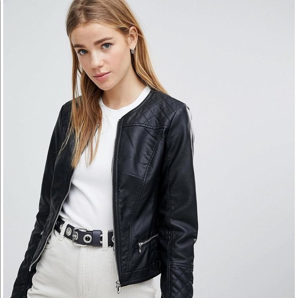 a2d607d8e ASOS Pimkie Faux Leather Biker Jacket